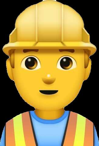 Apple construction worker emoji with default yellow skin tone